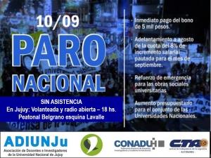 PARO NACIONAL DE LA DOCENCIA UNIVERSITARIA Y PREUNIVERSITARIA