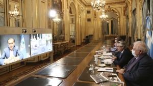El Presidente analiza con los gobernadores la situación epidemiológica de las provincias