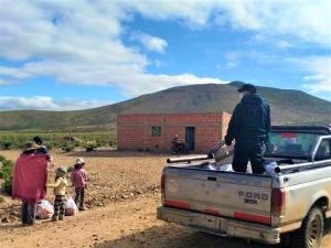 ENTREGA DIRECTA DE UNIDADES ALIMENTARIAS EN LA QUIACA Y SANTA CATALINA