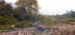 Agua Potable recambia parte del colector cloacal en Los Huaicos