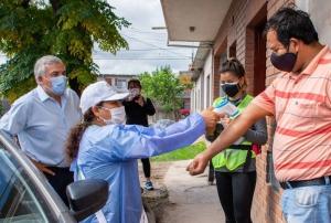 Morales participó del rastrillaje epidemiológico en Alto Comedero