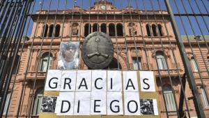 El velatorio de Maradona en Casa Rosada