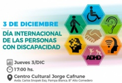 Invitan a un acto virtual por Día Internacional de las Personas con Discapacidad