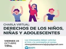 Charla virtual sobre derechos de niños y niñas