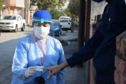 Casa por casa: así es la busqueda de contagios por Covid en Libertador